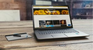 Laptop showing webpage that is formatted to suit SEO in Glasgow